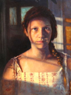Catherine Haverkamp, 'My Echo,' oil on masonite