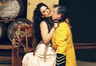 Audrey Babcock and Brian Cheney in Knoxville Opera's 'Carmen'