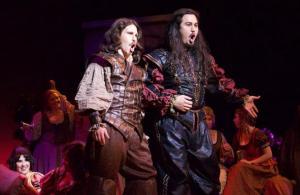 James Eder (Leporello) and Makoto Winkler (Don Giovanni) (Photo by Ryan Colbert)